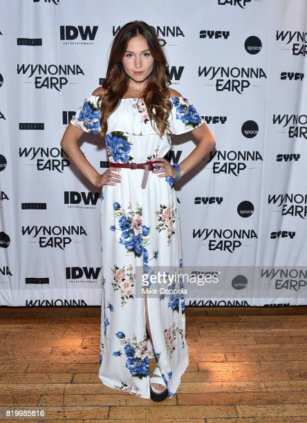Dominique ProvostChalkley at the Wynonna Earp Media Mixer with cast and Fan Appreciation Party during ComicCon International 2017 on July 20 2017 in...