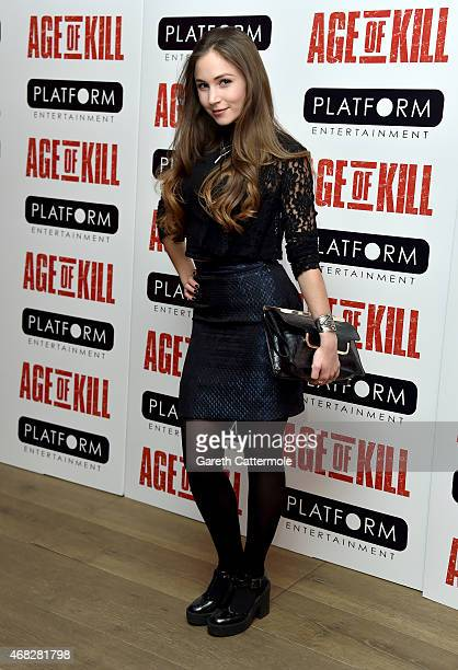 Dominique ProvostChalkley attends a private screening of 'Age Of Kill' at Ham Yard Hotel on April 1 2015 in London England
