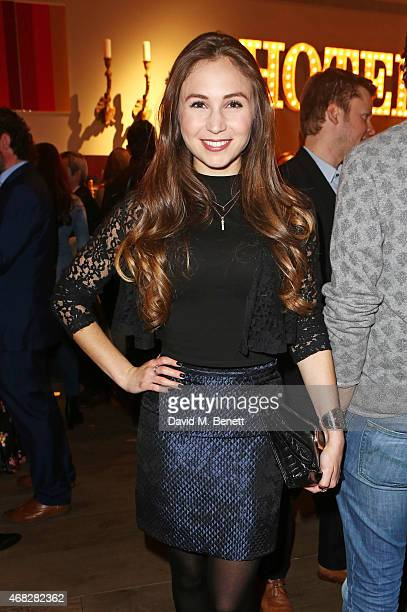 Dominique ProvostChalkley attends a private screening of 'Age Of Kill' at The Ham Yard Hotel on April 1 2015 in London England