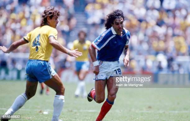 Dominique Rocheteau France / Bresil Quart de Finale de la Coupe du Monde 1986 Photo Alain de Martignac / Icon Sport