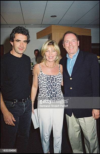 Dominique Rocheteau Brigitte Leconte and Jean Rene Godart at theCeline Dion Paris Concert At Stade De France 1999