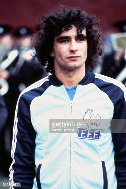 Dominique Rocheteau of France after konwing that he is part of the 22 french players who will play the 1982 Wolrd Cup
