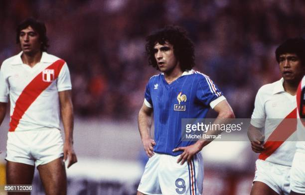 Dominique Rocheteau of France during the International Friendly match between France and Peru at Parc des Princes in Paris on April 28th 1982