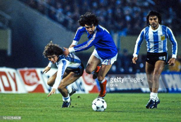 Dominique Rocheteau of France during the World Cup match between Argentina and France played at Buenos Aires Argentina on June 06th 1978 Photo by...