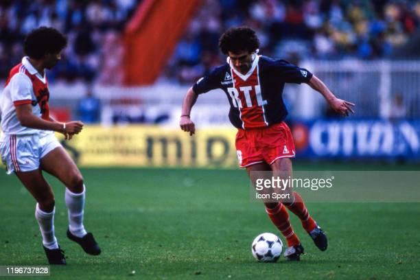 Dominique ROCHETEAU of PSG during the French Final Cup match between AS Monaco and Paris Saint Germain at Parc des Princes Paris on 8th June 1985