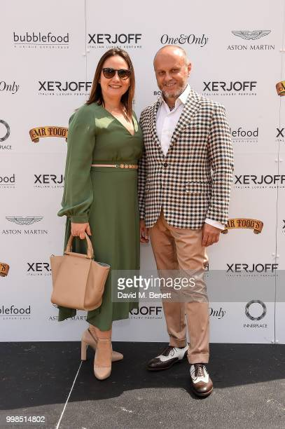 Jiaxin Cheng and Julian Lloyd Webber attend the Xerjoff Royal Charity Polo Cup 2018 on July 14 2018 in Newbury England
