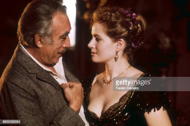 Dominique Sanda and Anthony Quinn acting in the 1976 Italian movie L'Eredita Ferramonti directed by Mauro Bolognini and based on an 1883 novel by...
