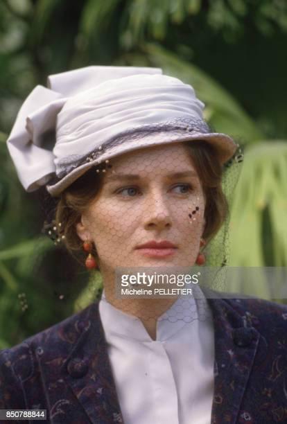 Dominique Sanda sur le tournage du film 'Le Matelot 512' réalisé par René Allio en mai 1984 France
