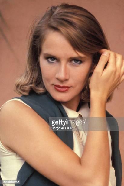 Dominique Sanda sur le tournage du téléfilm 'La Naissance du Jour' réalisé par Jacques Demy en juin 1980 France