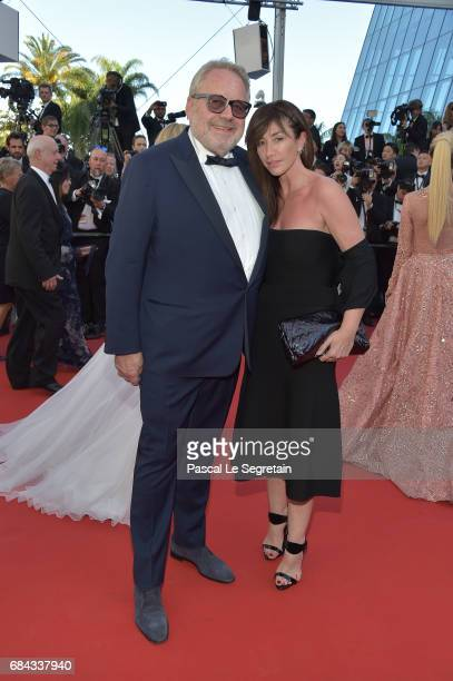 Dominique Segall and Albane Cleret attend the 'Ismael's Ghosts ' screening and Opening Gala during the 70th annual Cannes Film Festival at Palais des...