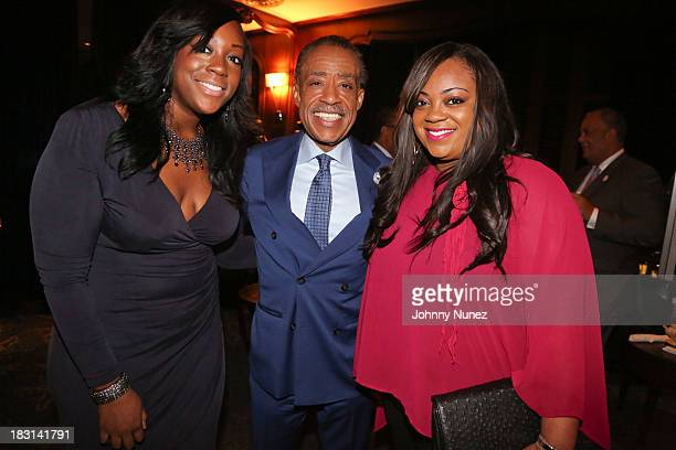 Dominique Sharpton Al Sharpton and Ashley Sharpton attend Rev Al Sharpton's Private Birthday Celebration at The Grand Havana Room on October 4 2013...