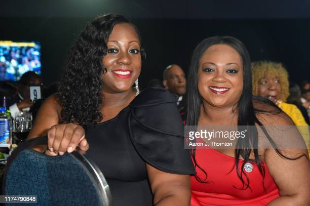 Dominique Sharpton Bright and Ashley Sharpton attend the Congressional Black Caucus' Annual Legislative Conference's Phoenix Awards Dinner at The...