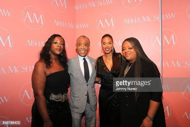Dominique Sharpton, Rev. Al Sharpton, Aisha McShaw and Ashley Sharpton Attend The Aisha McShaw - New York Fashion Week Show at Prince George Ballroom...