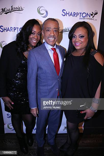 Dominique Sharpton Reverend Al Sharpton and Ashley Sharpton attend the Sharpton Entertainment Official Launch Event at Parlor on January 23 2013 in...