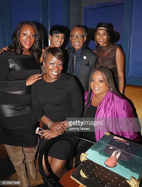 Dominique Sharpton Tamron Hall JoyAnn Reid Al Sharpton Aisha McShaw and Ashely Sharpton attend Al Sharpton Surprise Birthday Party on October 3 2016...