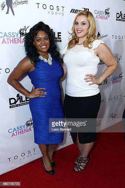Dominique Simpson and Cassy Athena attended NEO 39 Presents The Cassy Athena Collection PreESPYS Celebration at MR33B on July 14 2015 in Pasadena...
