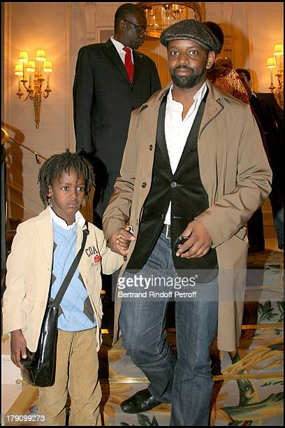 """Dominique Sopo and son at Premiere Party For """"Africa 24""""."""