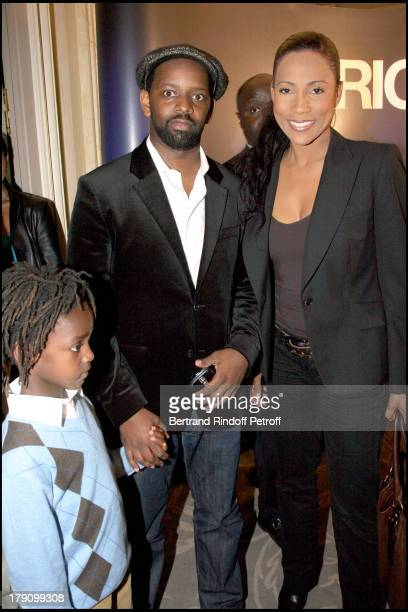 """Dominique Sopo, his son and Christine Kelly at Premiere Party For """"Africa 24""""."""