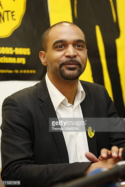 Dominique Sopo, President of SOS-Racisme, holds a Press conference after he has been arrested and kept for two day, in a financial affair in Paris,...
