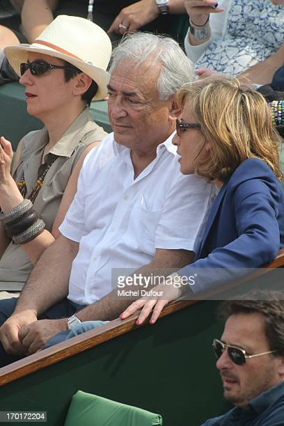 Dominique Strauss Khan and Myriam L Aouffir seen as Celebrities At French Open 2013 Day 14 at Roland Garros on June 8 2013 in Paris France