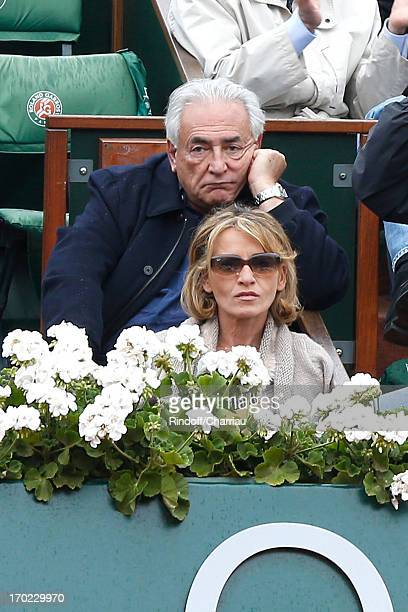 Dominique Strauss Khan and Myriam Laouffir sighting at the Roland Garros Tennis French Open 2013 Day 15 on June 9 2013 in Paris France