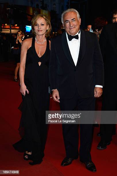 Dominique StraussKahn and Myriam L'Aouffir attend the Tribute To Alain Delon during The 66th Annual Cannes Film Festival at the Palais des Festivals...