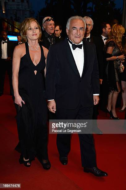 Dominique StraussKahn and Myriam L'Aouffir attend Tribute To Alain Delon during The 66th Annual Cannes Film Festival at the Palais des Festivals on...