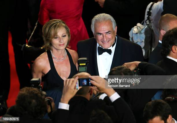 Dominique StraussKahn attends the Tribute To Alain Delon during The 66th Annual Cannes Film Festival at the Palais des Festivals on May 25 2013 in...