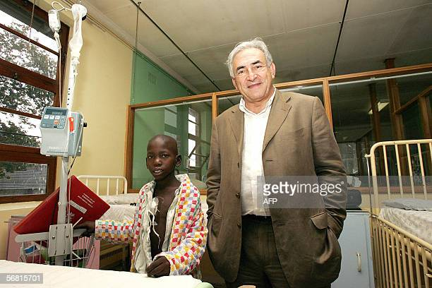 Dominique StraussKahn former French Minister and leader of Socialist party visits the Chris Hani Baragwanath Hospital in Soweto 10 February 2006...