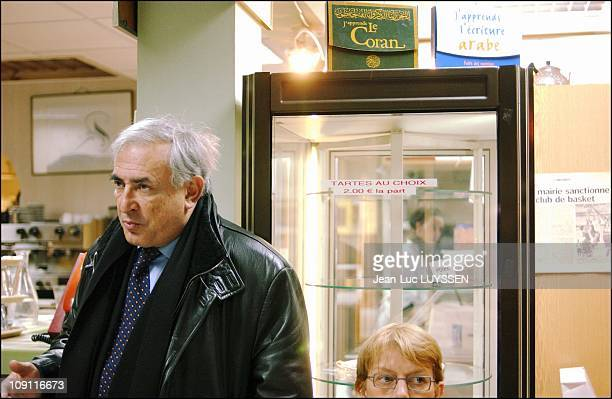 Dominique StraussKahn In SeineStDenis To Support Candidates In The March 21 28 Cantonal Elections On March 9 2004 In Villepinte France