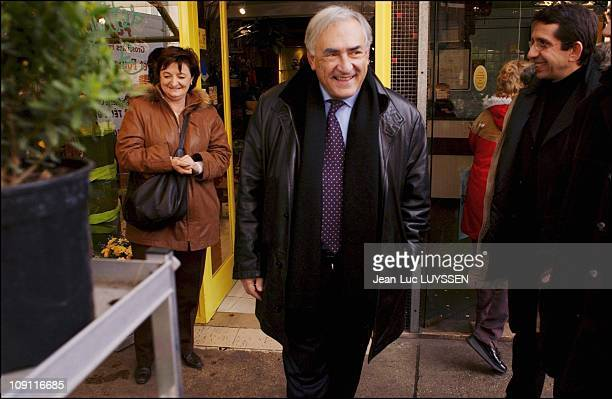 Dominique StraussKahn In SeineStDenis To Support Candidates In The March 21 28 Cantonal Elections On March 9 2004 In Aubervilliers France