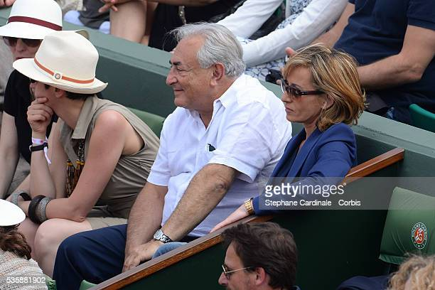 Dominique StraussKhan and Myriam L'Aouffir attend Roland Garros Tennis French Open 2013