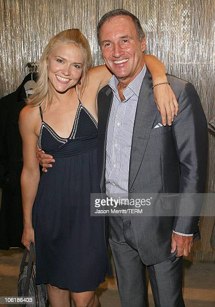 Dominique Swain and David Reiss during REISS Los Angeles Store Opening on Robertson at REISS LA in Beverly Hills California United States