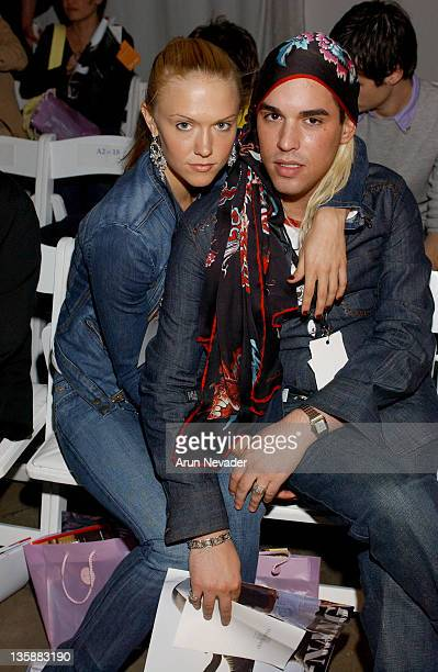Dominique Swain and Oren Shepher during MercedesBenz Fall 2004 Fashion Week at Smashbox Studios Shay Todd Front Row and Backstage at Smashbox Studios...