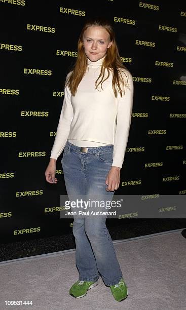 Dominique Swain dressed in Express during Express Flagship Store Opening Arrivals at Hollywood Highland Shopping Center in Hollywood California...
