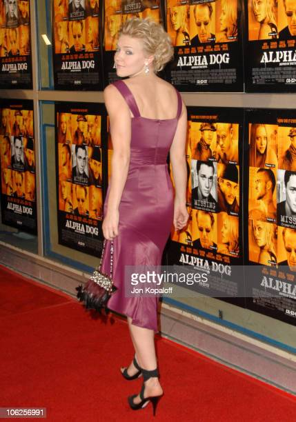 Dominique Swain during 'Alpha Dog' Los Angeles Premiere Arrivals at ArcLight Cinemas in Hollywood California United States