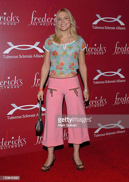 Dominique Swain during Frederick's of Hollywood Presents Their '2006 Spring Collection Fashion Show' Arrivals at The Avalon in Hollywood California...