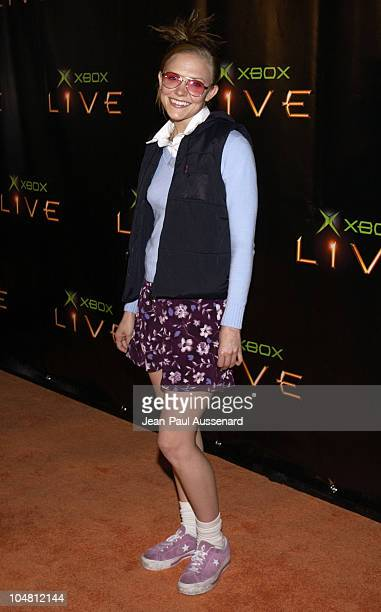 Dominique Swain during Launch Party for Xbox Live Arrivals at Peek at The Sunset Room in Hollywood California United States