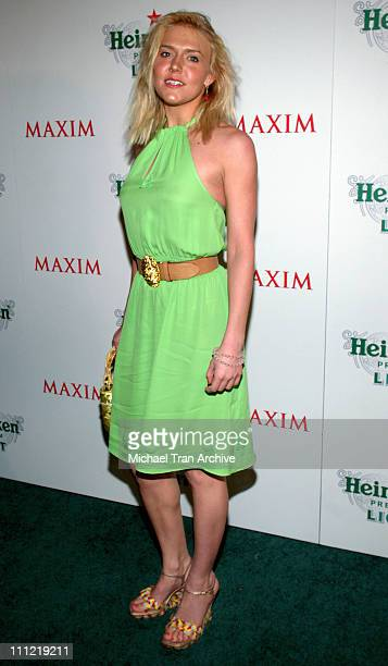 Dominique Swain during Maxim Unveiling the New Heineken Premium Light at Mood in Hollywood CA United States