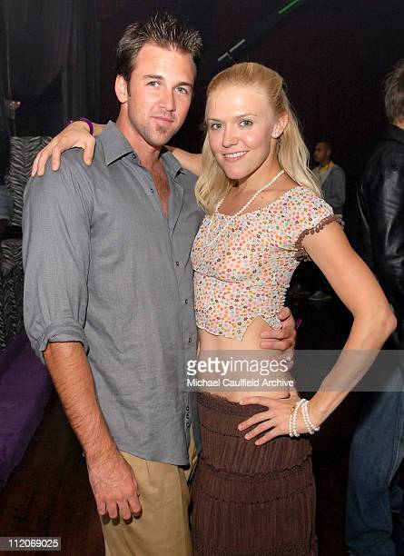 Dominique Swainright and guest during Motorola's 8th Anniversary Party Featuring a Performance by Christina Aguilera at Hollywood Palladium in...