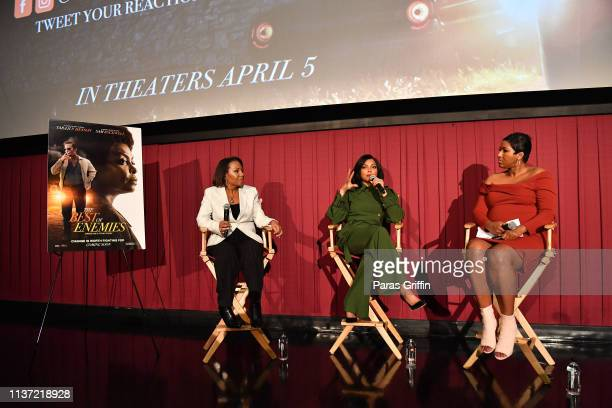Dominique Telson Taraji P Henson and Lisa Rayam onstage during 'The Best Of Enemies' Atlanta screening at Regal Atlantic Station on March 20 2019 in...
