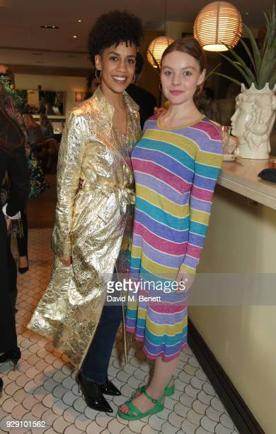 Dominique Tipper and Nell Hudson attend an exclusive breakfast to celebrate International Women's Day and support the Gynaecological Cancer Fund's...