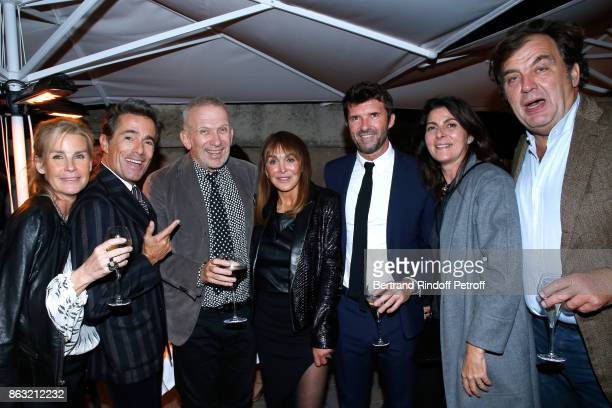 Dominique Van Den Bosch Elie Top JeanPaul Gaultier Babeth Djian CEO of Mazarine Group PaulEmmanuel Reiffers Denise Vilgrain and her husband Alexandre...