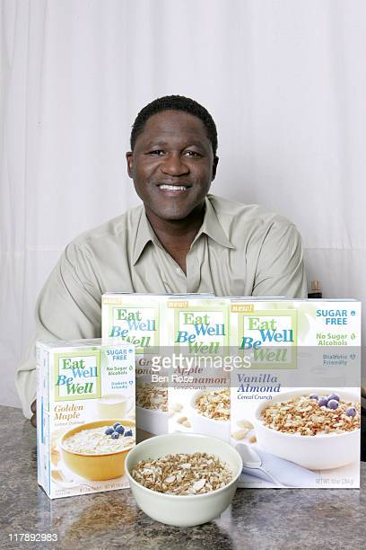 Dominique Wilkins during Dominique Wilkins Collaborates with Eat Well Be Well Foods To Promote Awareness of National Diabetes Month at KEF Studios in...