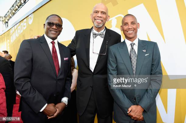 Dominique Wilkins, Kareem Abdul-Jabbar, and Reggie Miller attend the 2017 NBA Awards Live on TNT on June 26, 2017 in New York, New York. 27111_002