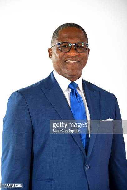 Dominique Wilkins of the Atlanta Hawks poses for a portrait during media day on September 30, 2019 at the Emory Sports Medicine Complex in Atlanta,...