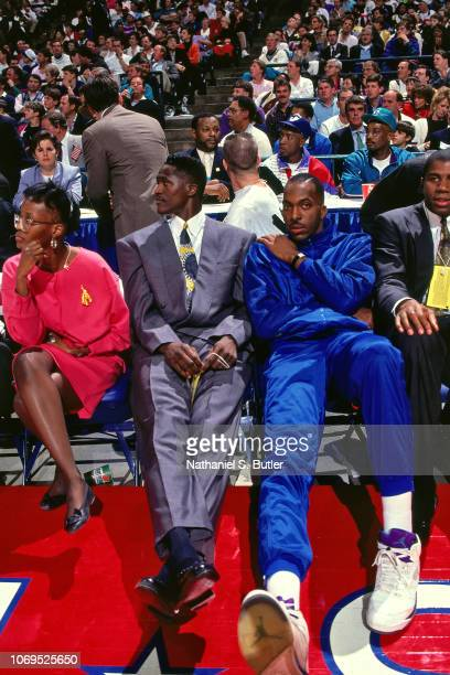 Dominique Wilkins of the Eastern Conference AllStars AllStar Saturday Night during the 1991 NBA AllStar game on February 9 1991 at the Charlotte...