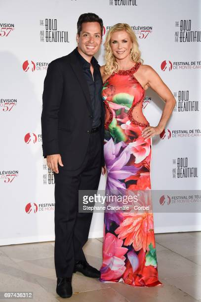 Dominique Zoida and Katherine Kelly Lang attend the 'The Bold and The Beautiful' 30th Anniversary during the 57th Monte Carlo TV Festival Day 3 on...