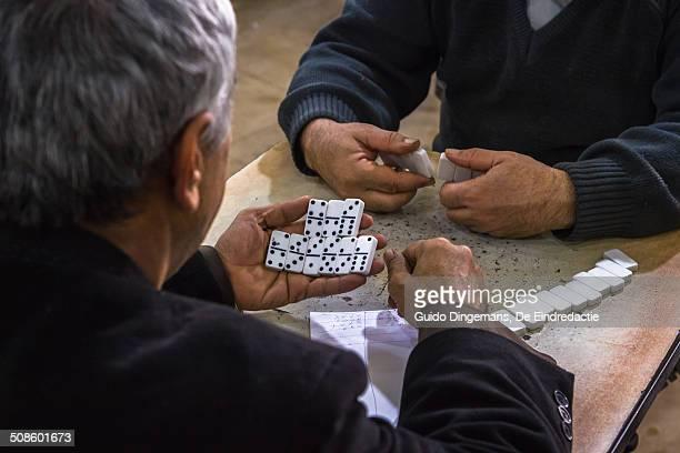 Domino at teahouse in Iraqi Kurdistan
