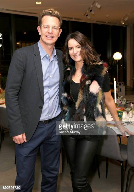 Domino CEO Nathan Coyle and Samie Barrat the Domino Outpost CB2 Influencer Dinner at Fred Segal on December 11 2017 in Los Angeles California